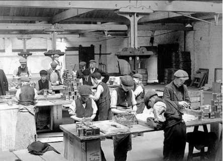 Workers in a tea mill near Celbridge